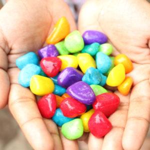 Multicolor Decorative Pebbles