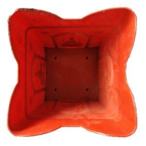 Nisarga Tulsi Pot Plastic Terracotta Painted Colour 2