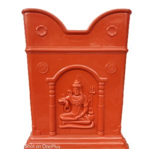 Nisarga Tulsi Pot Plastic Terracotta Painted Colour 2