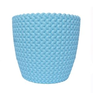 Table Top Plastic Pot - Sky Blue