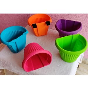 Wall Mounted D Shape Plastic Planter