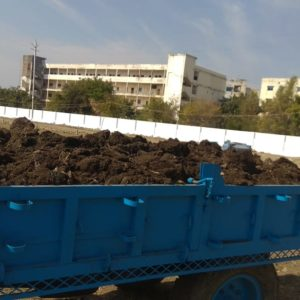 Black coated soil trolley in Bhopal - Nursery Nisarga