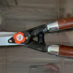Hedge Shears with wooden handle
